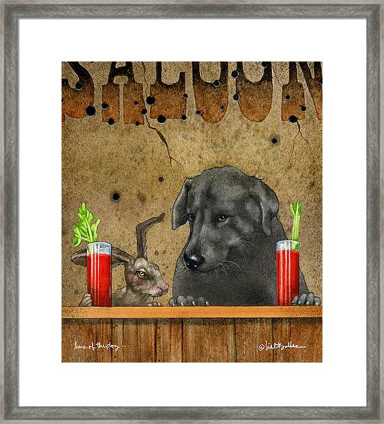 Hare Of The Dog... Framed Print
