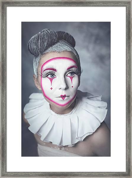 Harlequin Framed Print by Michal Magdziak