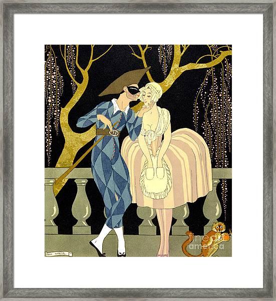 Harlequin's Kiss Framed Print