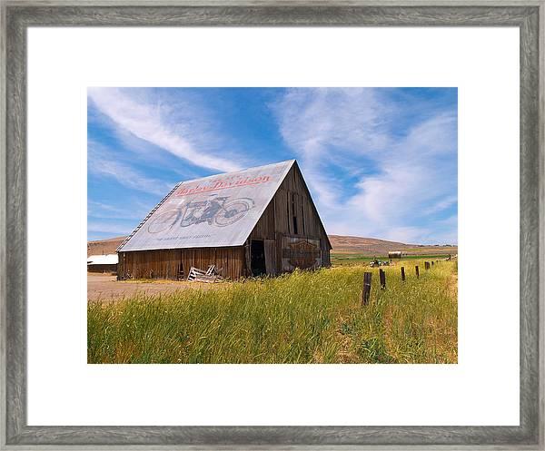 Harley Barn Framed Print