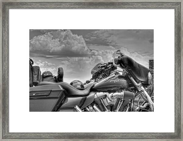 Harley Black And White Framed Print