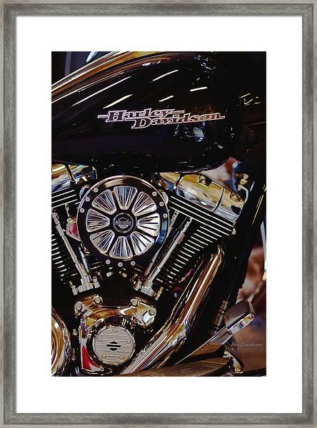 Harley Davidson Abstract Framed Print
