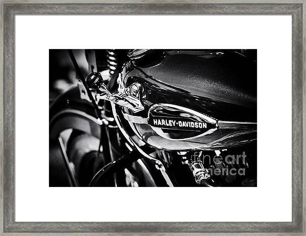Harley Davidson Monochrome Framed Print