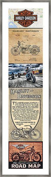 Harley-davidson Montage Framed Print