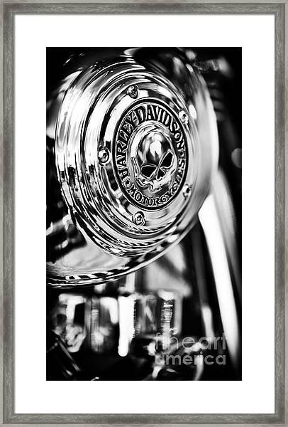 Harley Davidson Skull Casing Framed Print