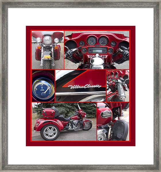 Framed Print featuring the photograph Harley Davidson Ultra Classic Trike by Patti Deters