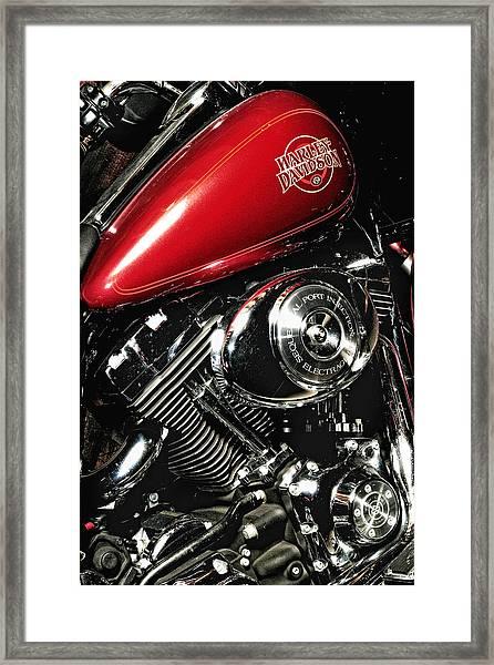 Harley Electra-glide Framed Print