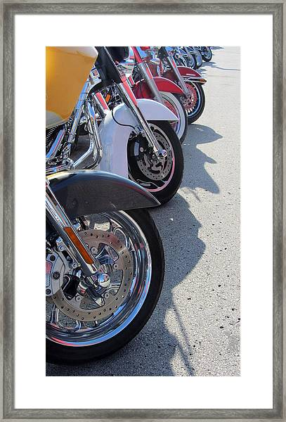 Harley Line Up 1 Framed Print