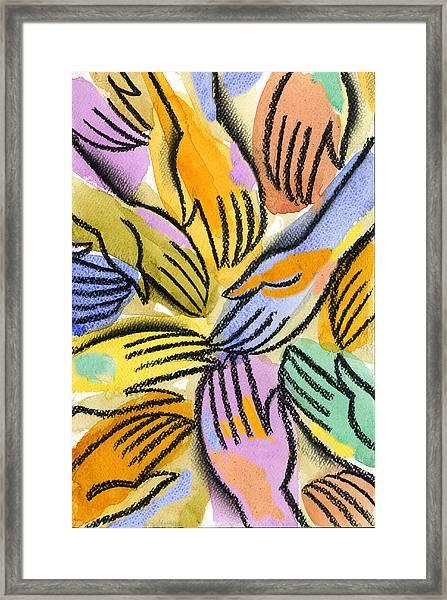 Multi-ethnic Harmony Framed Print