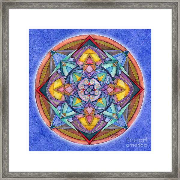 Harmony Mandala Framed Print