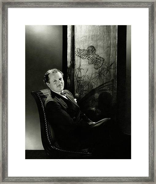 Harold Nicolson Sitting On A Chair Framed Print