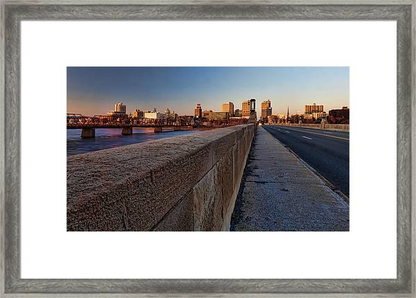 Harrisburg Skyline Framed Print