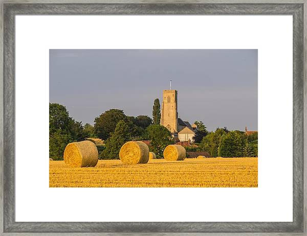 Harvest Scenes In The East Of England Framed Print by GKS Images