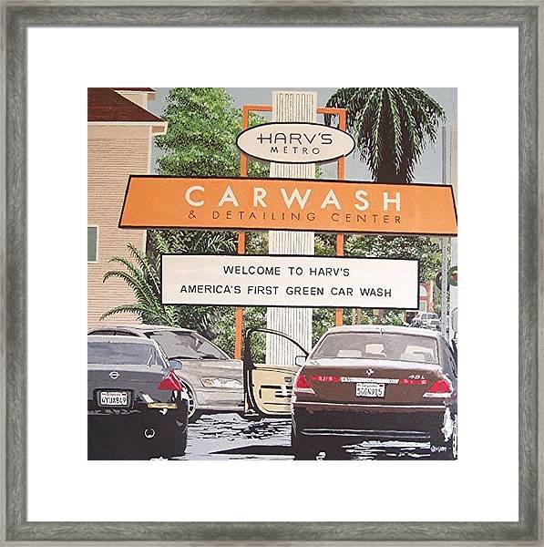 Harv's Car Wash Framed Print by Paul Guyer