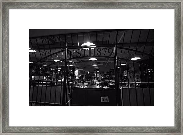 Hatch Show Print Black And White Framed Print