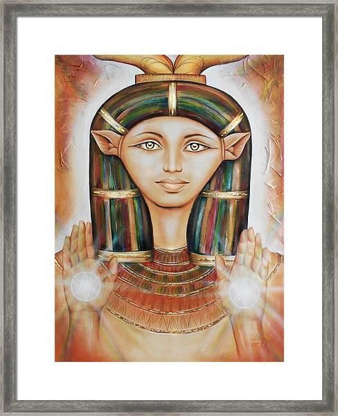 Hathor Rendition Framed Print