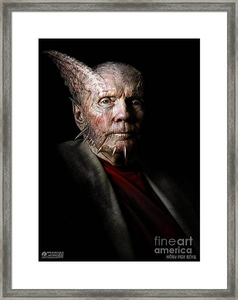 Hatred From Within Framed Print