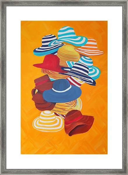 Hats Off Framed Print