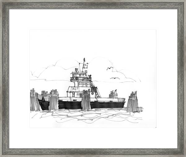 Hatteras Ferry Framed Print