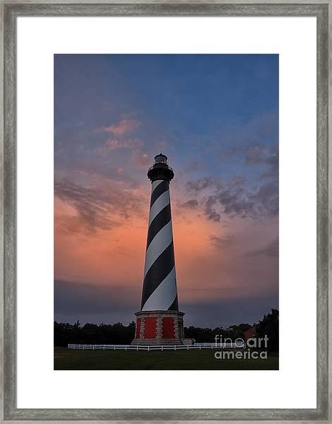 Hatteras Lighthouse Dawn Framed Print