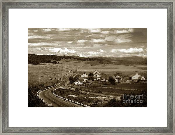 Hatton Ranch Carmel Valley From Highway One California  1945 Framed Print
