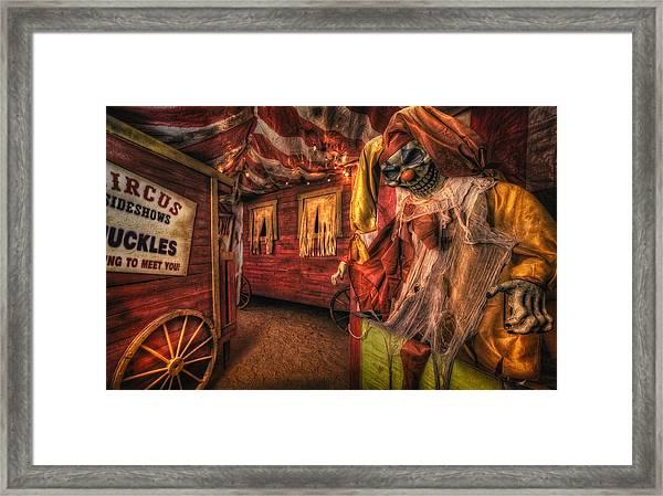 Haunted Circus Framed Print