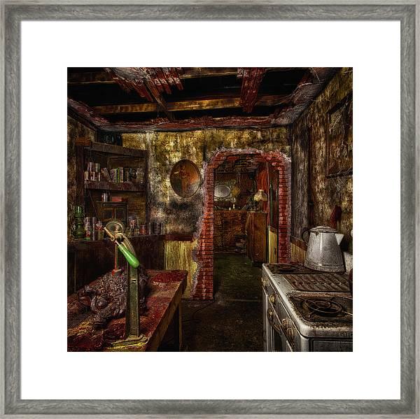 Haunted Kitchen Framed Print