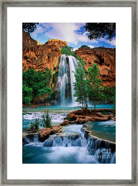 Havasu Cascades Framed Print