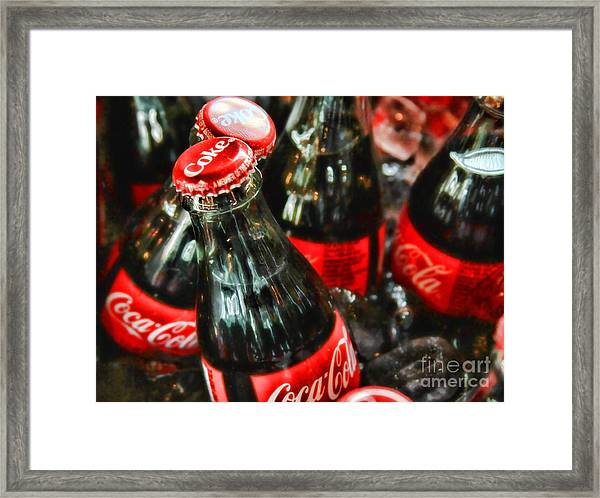 Have A Coke And Give A Smile By Diana Sainz Framed Print