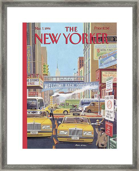 New Yorker March 7th, 1994 Framed Print