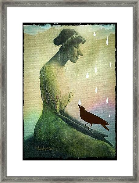 have I seen you here before? Framed Print