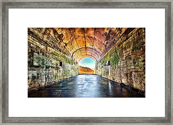 Framed Print featuring the photograph Hawk Hill Tunnel by Robert Rus