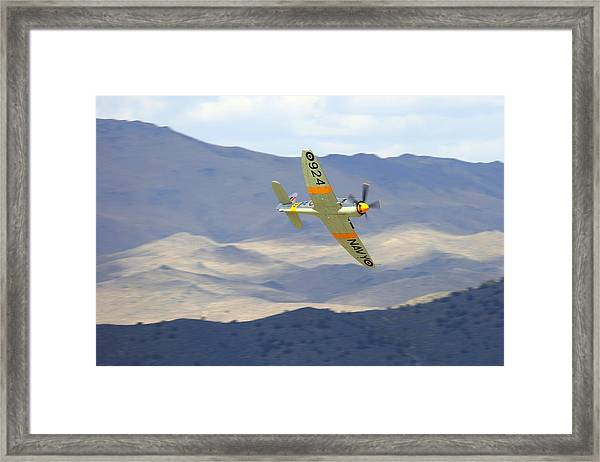 Hawker Sea Fury T Mk.20 At Reno Air Races Framed Print by John King