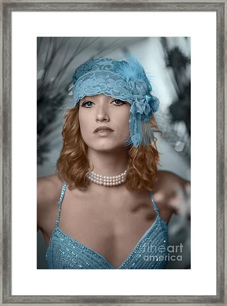 Hayley Blue Framed Print by Donald Davis