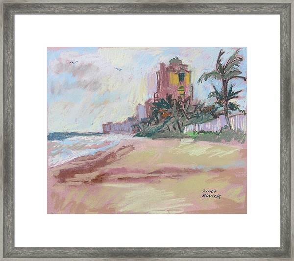 Hazy Beach Framed Print