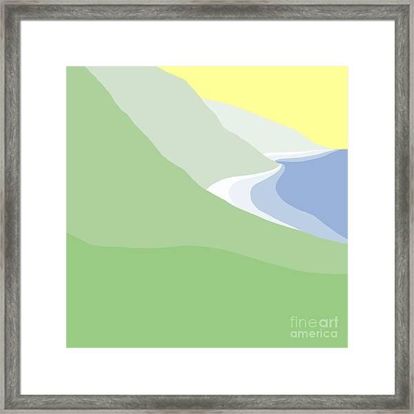 Hazy Coastline Framed Print