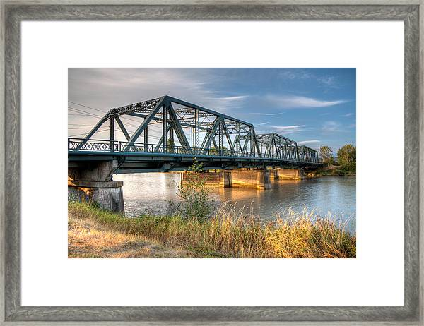 Hdr - Lincoln Ave. Bridge Framed Print