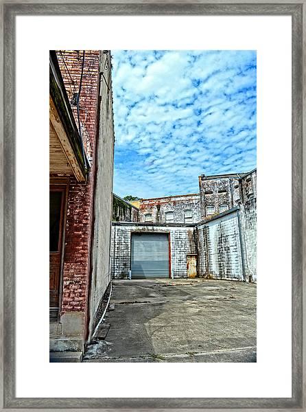 Hdr Alley Framed Print