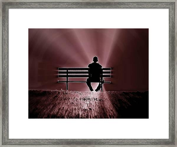 He Spoke Light Into The Darkness Framed Print