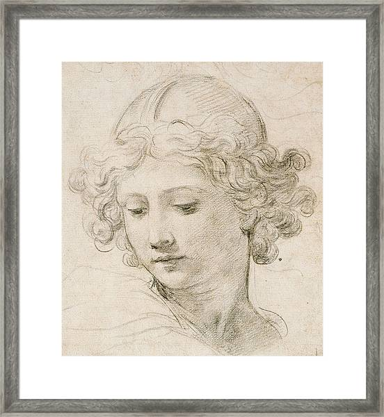 Head Of An Angel Framed Print
