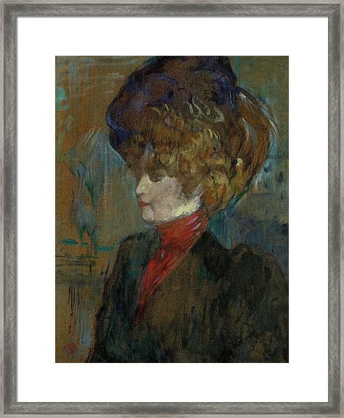 Head Of An English Lady Framed Print