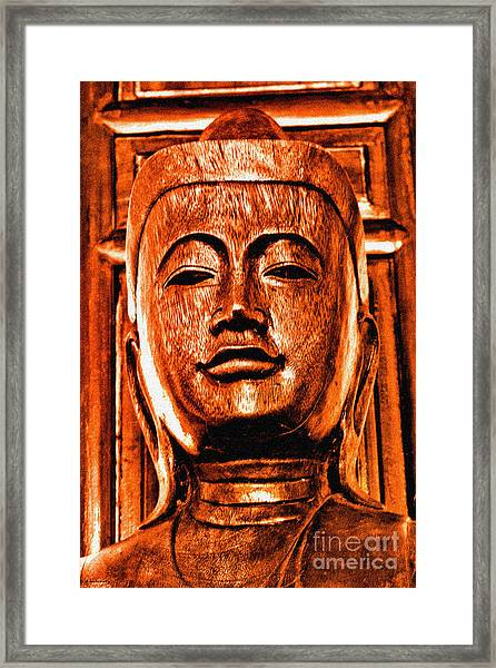 Head Of The Buddha Framed Print