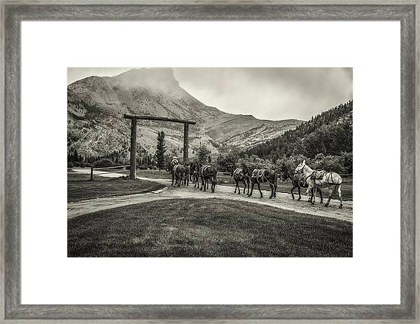 Heading Into The Mountains Framed Print