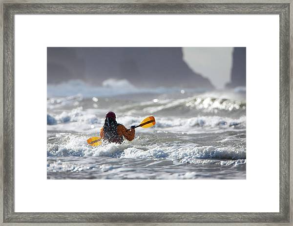 Heading Out At The La Push Pummel Framed Print by Gary Luhm