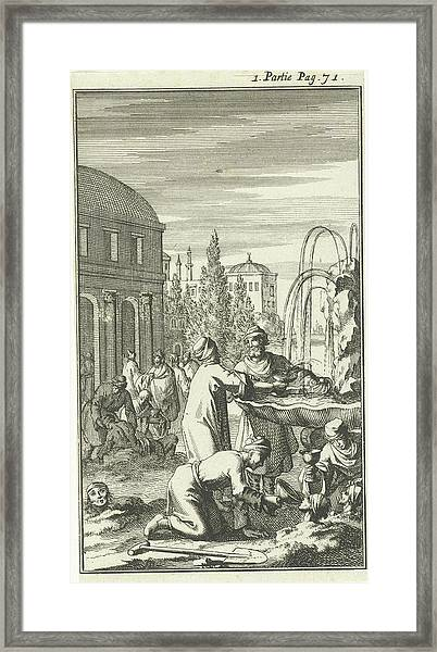 Healing Fountain In Constantinople, Istanbul Framed Print