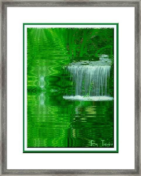 Healing In Green Waters Framed Print by Ray Tapajna