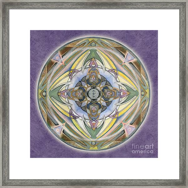 Healing Mandala Framed Print