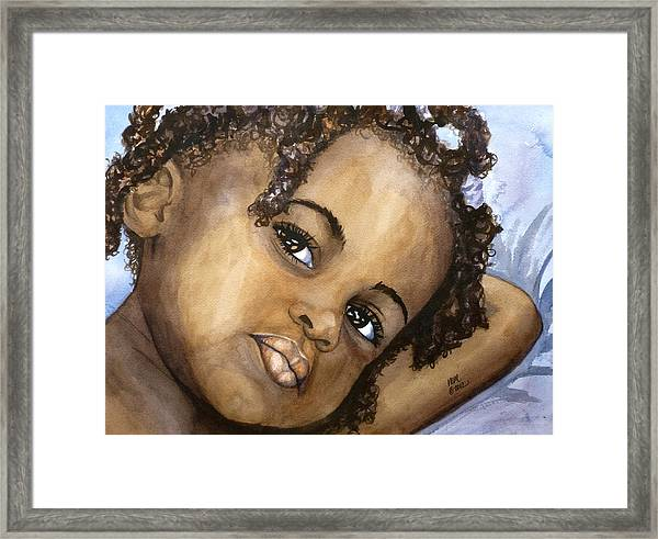 Nigerian Eyes Framed Print