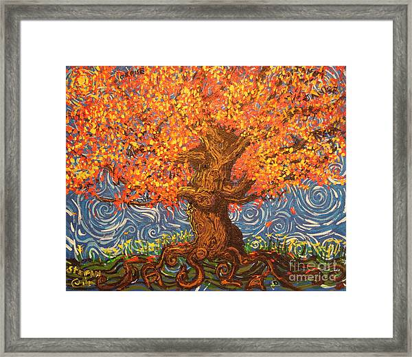 Healthy At Home Tree Framed Print