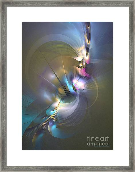Heart Of Dragon - Abstract Art Framed Print